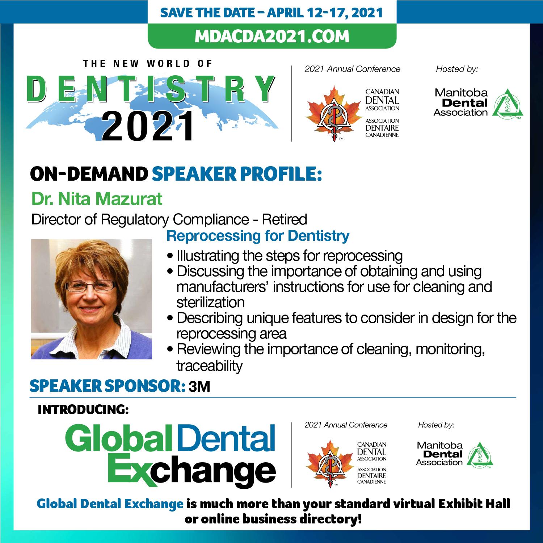 Dr. Nita Mazurat - Reprocessing for Dentistry